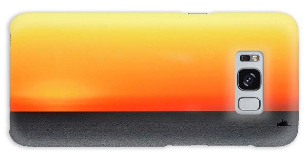Lake Michigan Sunrise Galaxy Case by Zawhaus Photography