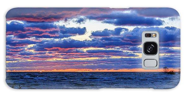 Lake Michigan Windy Sunrise Galaxy Case