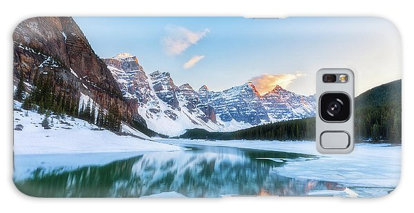 Lake Moraine Sunset Galaxy Case