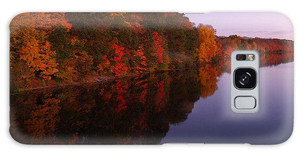 Lake Nockamixon Twilight Reflection In Autumn Galaxy Case