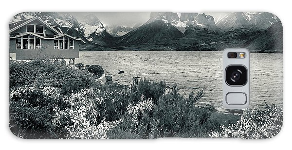 Lake Pehoe In Black And White Galaxy Case by Andrew Matwijec