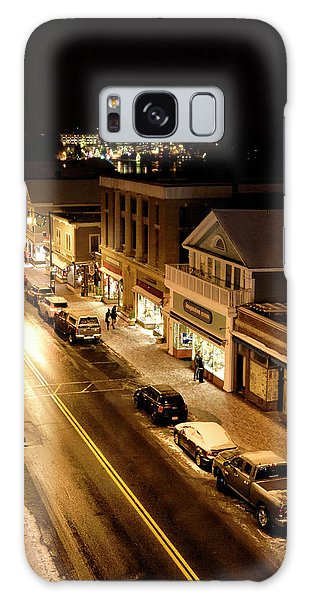 Lake Placid New York - Main Street Galaxy Case by Brendan Reals