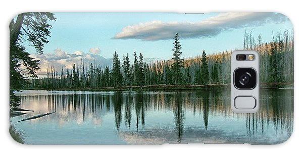 Lake Reflections Galaxy Case by Myrna Bradshaw