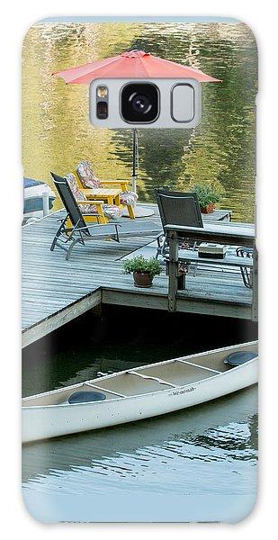 Lake-side Dock Galaxy Case by E Faithe Lester