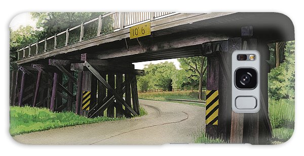 Lake St. Rr Overpass Galaxy Case by Ferrel Cordle