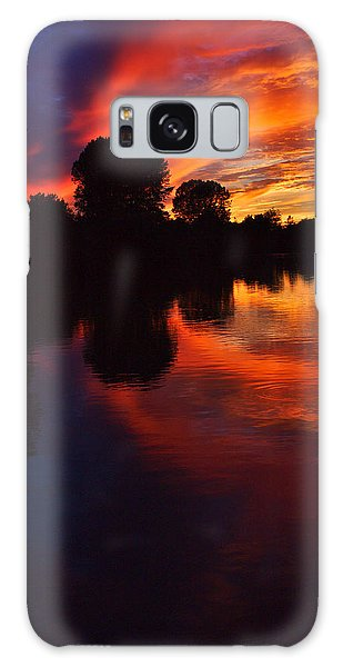 Lake Sunset Reflections Galaxy Case