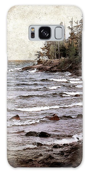 Lake Superior Waves Galaxy Case by Phil Perkins