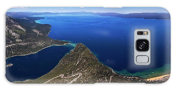 Lake Tahoe Aerial Panorama - Emerald Bay Aerial Galaxy Case