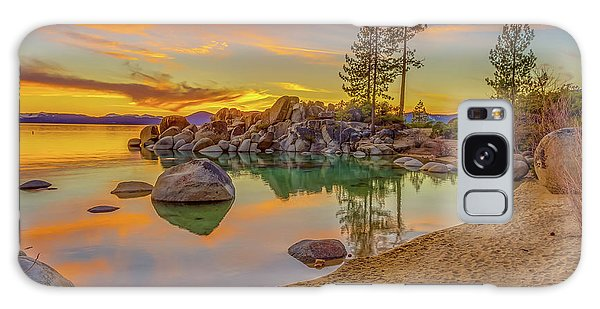 Lake Tahoe Majestic Sunset Galaxy Case