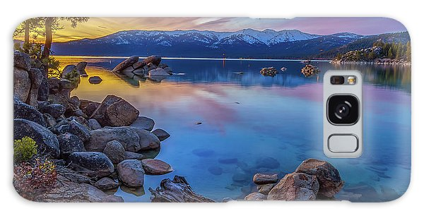 Lake Tahoe Spring Kaleidoscope  Galaxy Case