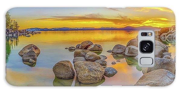 Lake Tahoe Spring Sunset Panoramic Galaxy Case