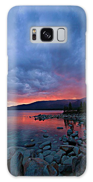 Lake Tahoe Sunset Portrait 2 Galaxy Case by Sean Sarsfield