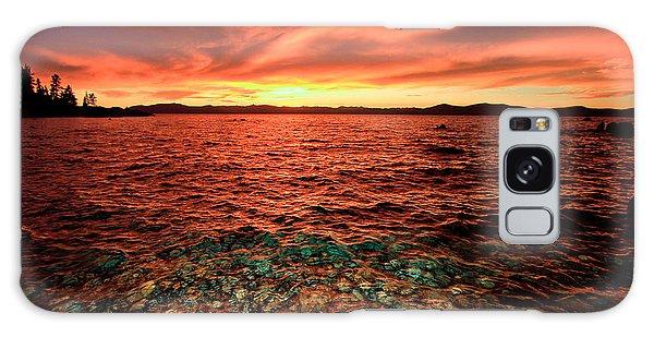 Lake Tahoe...blood Moon Sunset Galaxy Case
