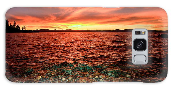 Lake Tahoe...blood Moon Sunset Galaxy Case