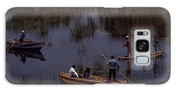 Lake Titicaca Reed Boats Galaxy Case
