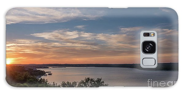 Lake Travis During Sunset With Clouds In The Sky Galaxy Case