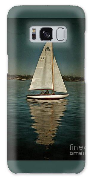 Lake Union Day Sailing Galaxy Case by Susan Parish