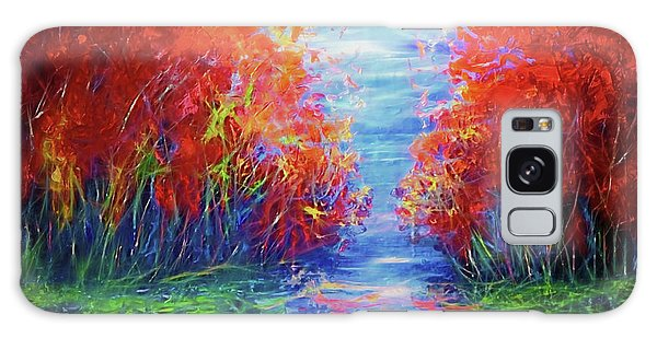 Olena Art Lake View Abstract Artwork Galaxy Case