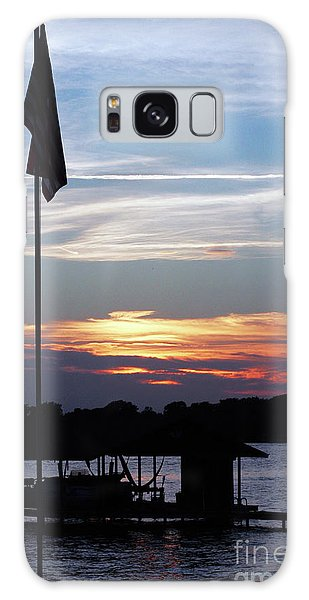 Lake View Sunset Galaxy Case