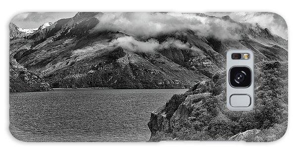 Lake Wakatipu In Black And White Galaxy Case