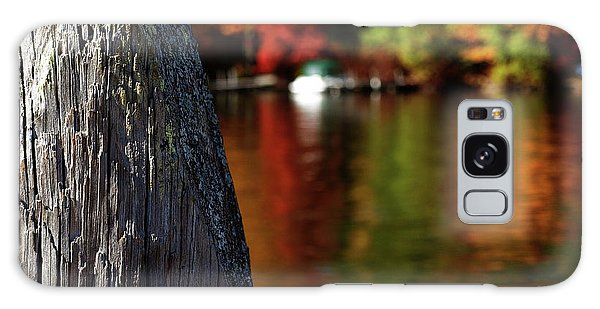 Lake Winnepesaukee Dock With Foliage In The Distance Galaxy Case