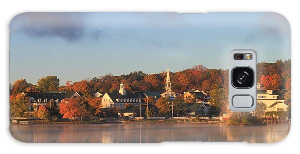 Lake Winnipesaukee Meredith Autumn Morning Galaxy Case by John Burk