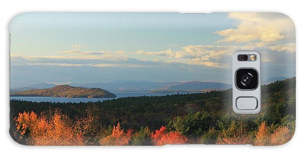 Lake Winnipesaukee Overlook In Autumn Galaxy Case by John Burk