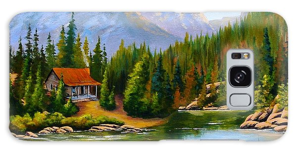 Lakeside Cabin Galaxy Case