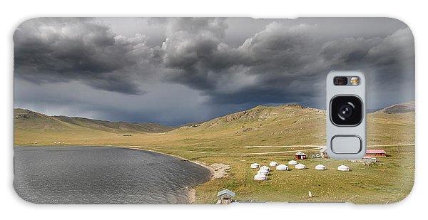 Galaxy Case featuring the photograph Lakeside Camp, Khorgo, 2016 by Hitendra SINKAR