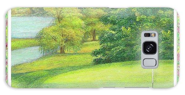 Lakeside Golfing Illustration Galaxy Case