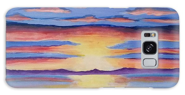 Lakeview Sunset Galaxy Case by Carol Duarte