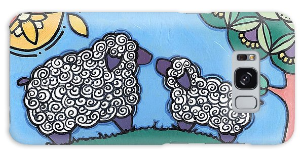 Lamb And Mama Sheep Galaxy Case