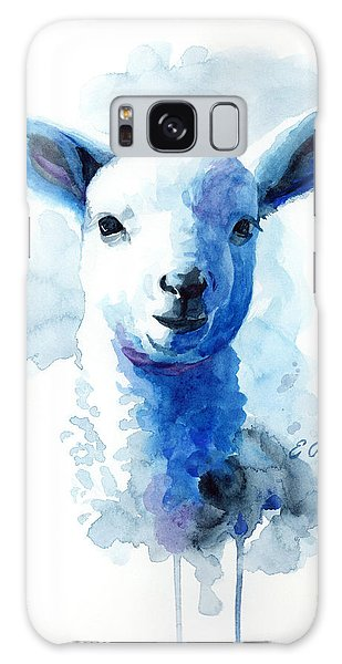 Lamb In Blue Galaxy Case