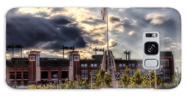 Lambeau Field Awakes Galaxy Case by Joel Witmeyer