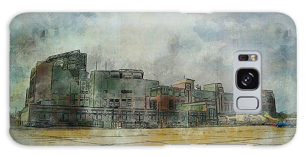 Galaxy Case featuring the photograph Lambeau Field Watercolor by Joel Witmeyer