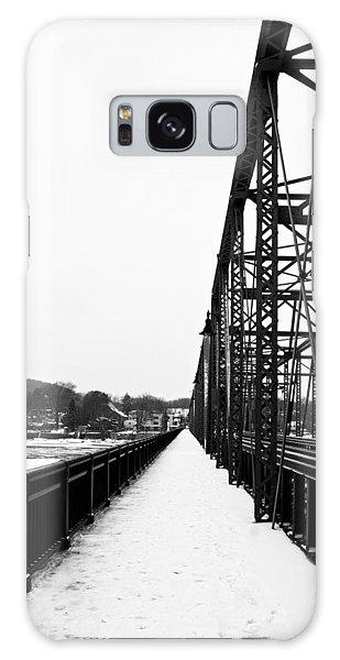 Lambertville New Hope Bridge In Winter Galaxy Case