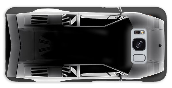 Lamborghini Countach 5000 Qv 25th Anniversary - Top View Galaxy Case
