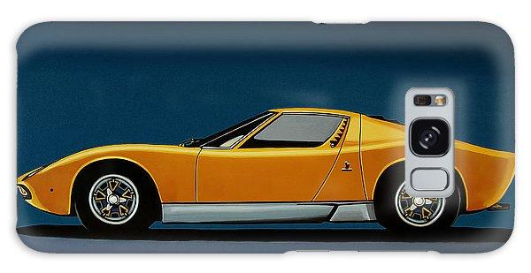 Motor Galaxy Case - Lamborghini Miura 1966 Painting by Paul Meijering
