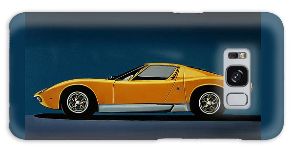 Coupe Galaxy Case - Lamborghini Miura 1966 Painting by Paul Meijering