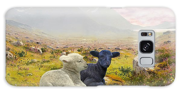 Lambs On A Hillside Galaxy Case