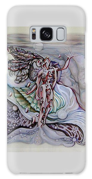 Galaxy Case featuring the drawing Lament A Wing by Doe-Lyn