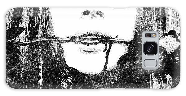 Lana Del Rey Bw Portrait Galaxy Case by Mihaela Pater