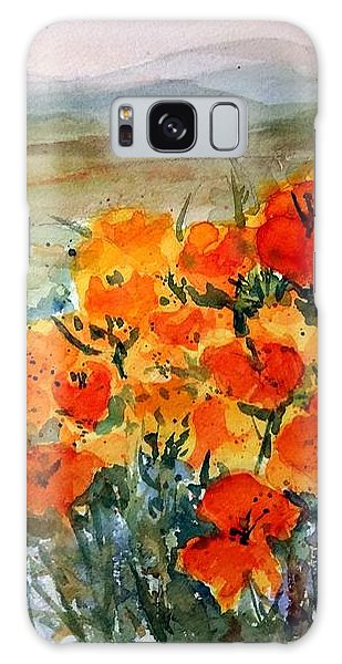 Lancaster Poppy Fields Galaxy Case