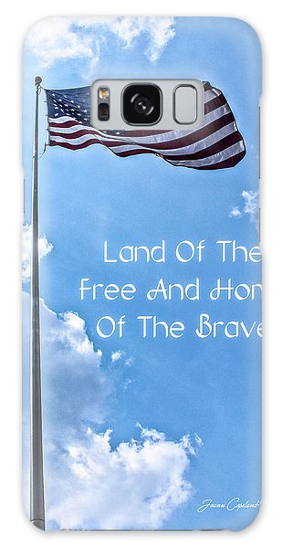 Land Of The Free Galaxy Case by Joann Copeland-Paul