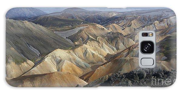 Landmannalaugar Rhyolite Mountains Iceland Galaxy Case by Rudi Prott
