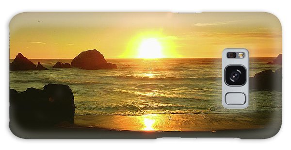 Lands End Sunset-the Golden Hour Galaxy Case
