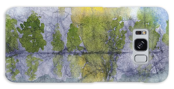 Landscape Reflection Abstraction On Masa Paper Galaxy Case
