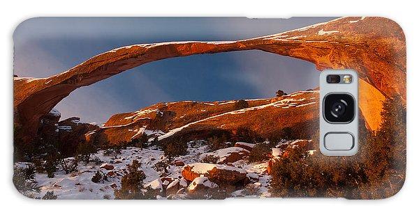 Landscape Arch Sunrise Galaxy Case