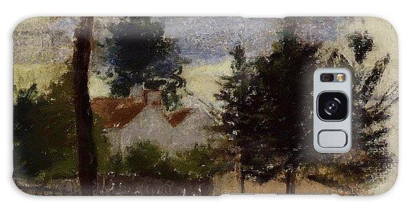 Landscape At Louveciennes Galaxy Case