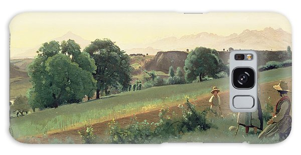 Landscape At Mornex Galaxy Case by Jean Baptiste Corot